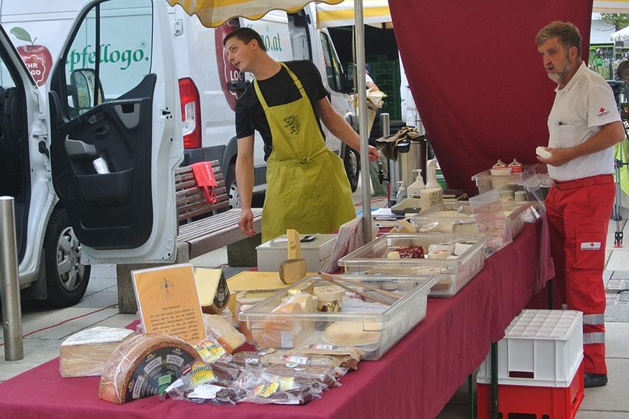 Produkte am Bauernmarkt