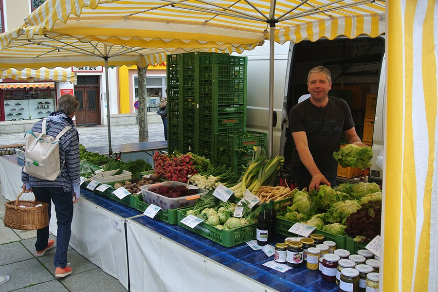 Verkaufsstand Gemüse